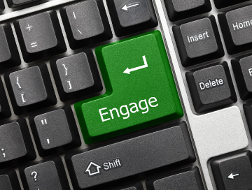 "Computer keyboard with ""Engage"" button (instead of ""Enter"")"