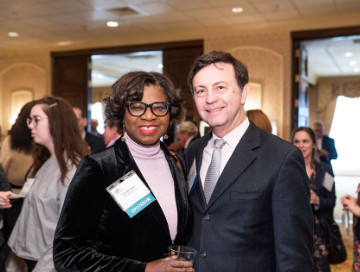 AFP member and his table sponsor posing for the camera at National Philanthropy Day 2019