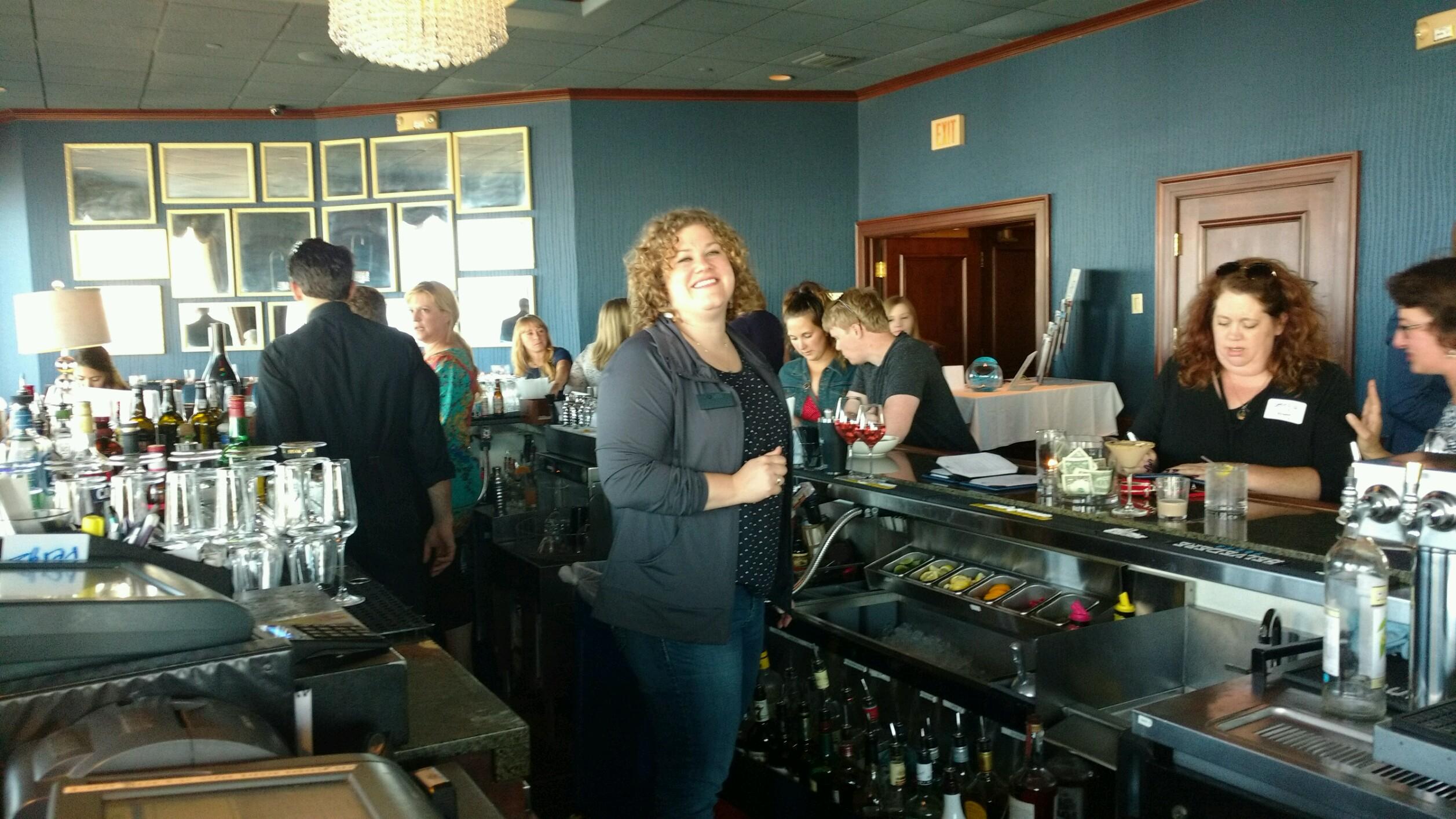 Carolyn Hahn inaction bartending