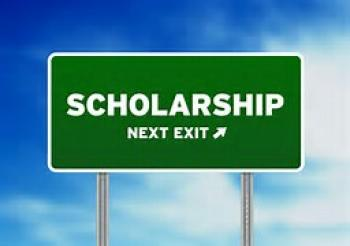 "Road sign that says ""Scholarship Next Exit"""