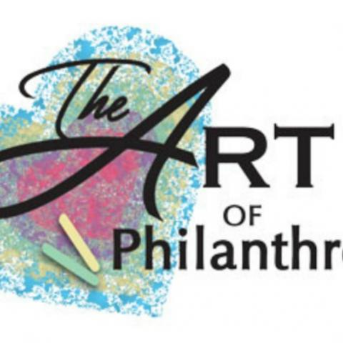 The Art of Philanthropy NPD logo with chalk heart